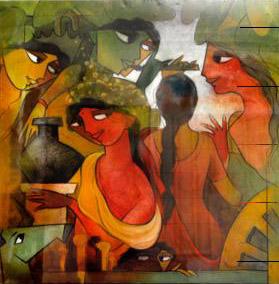 Krishna and the Gopies
