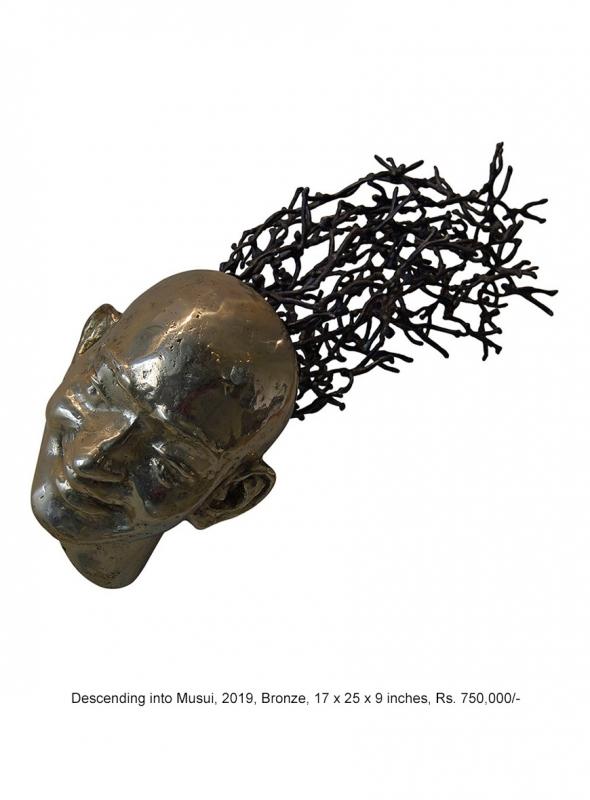 Tapasyi Tarangini, 2020, Bronze, 51 x 18.5 x 18 cm, Rs. 300,000